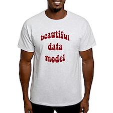 beautiful data model (red) T-Shirt