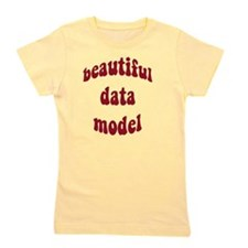 beautiful data model (red) Girl's Tee