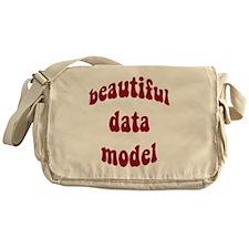 beautiful data model (red) Messenger Bag