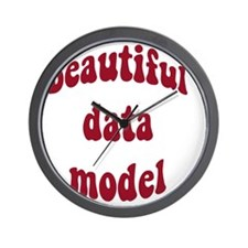 beautiful data model (red) Wall Clock