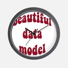 beautiful data model (red) Wall Clock