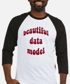 beautiful data model (red) Baseball Jersey