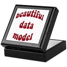 beautiful data model (red) Keepsake Box