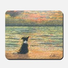 A Border Collie dog says hello to the mo Mousepad