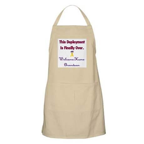 Welcome home grandson BBQ Apron