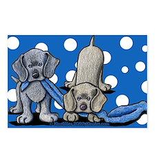 Weimaraner Pups Postcards (Package of 8)