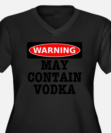 May Contain  Women's Plus Size Dark V-Neck T-Shirt