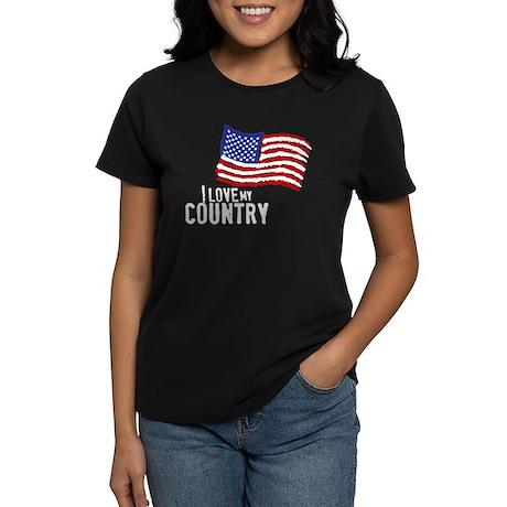 Love My Country Women's Dark T-Shirt