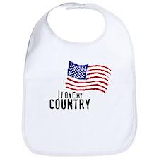Love My Country Bib