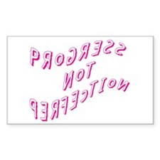 Progress not Perfection Rectangle Decal