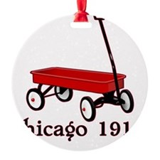 red wagon Chicago 1917 old school t Ornament