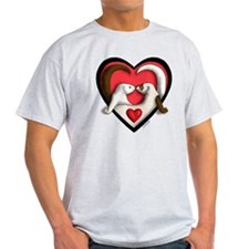 Ferrets in Heart T-Shirt