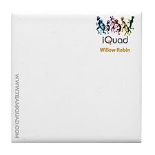 Willow - white front Tile Coaster
