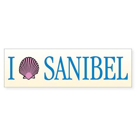 "I ""Shell"" Sanibel - Bumper Sticker"