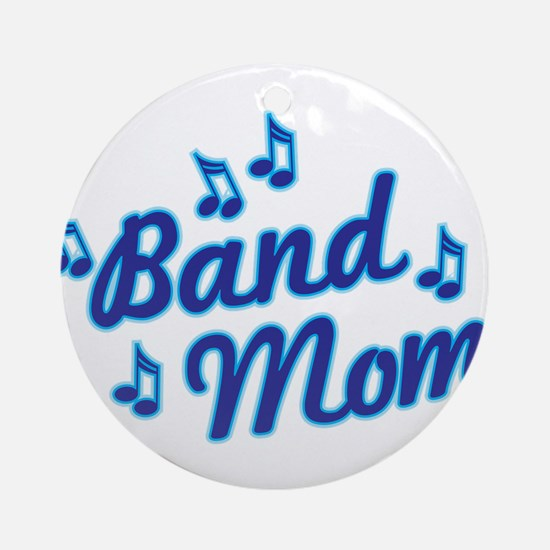 Band Mom Round Ornament