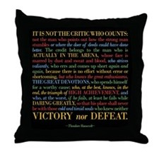 The Critic Throw Pillow