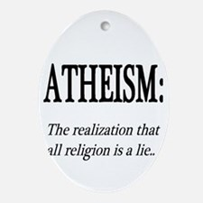 Atheism Shirt Oval Ornament