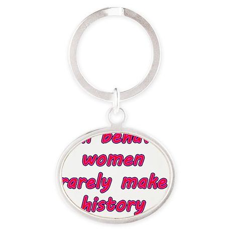 Behaved Women? Oval Keychain