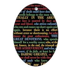 The Critic Oval Ornament