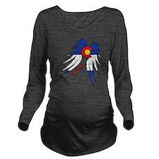 Native WIngs Long Sleeve Maternity T-Shirt