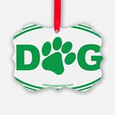 Dog Green Ornament
