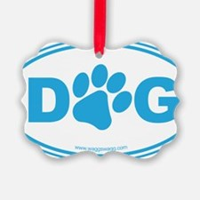 Dog Blue Ornament