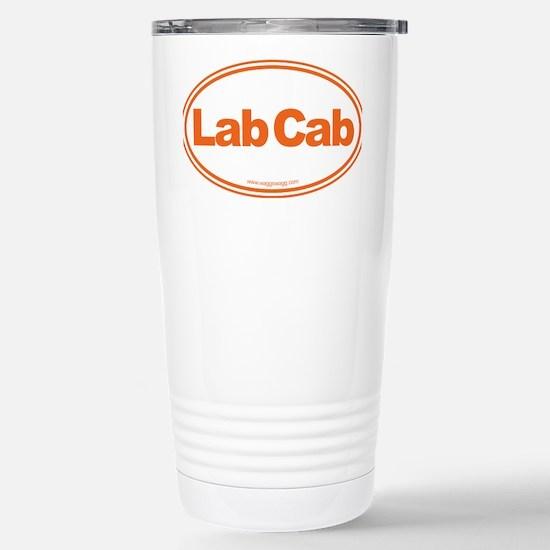Lab Cab Orange Stainless Steel Travel Mug