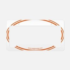 Lab Cab Orange License Plate Holder