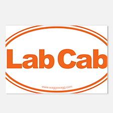 Lab Cab Orange Postcards (Package of 8)