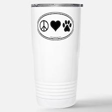 Peace Love Paws Black Travel Mug