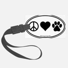 Peace Love Paws Black Luggage Tag