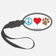 Peace Love Paws Colors Luggage Tag
