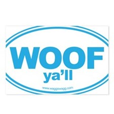WOOF Yall Blue Postcards (Package of 8)