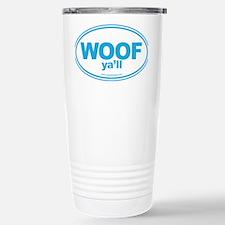 WOOF Yall Blue Travel Mug