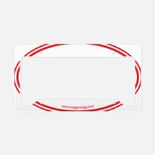Adopt Red License Plate Holder