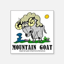 "Cartoon Mountain Goat by Lo Square Sticker 3"" x 3"""