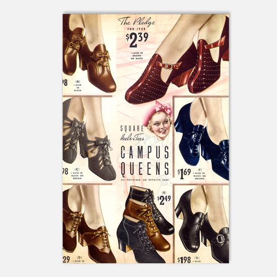 1930s Campus Queen Shoes Postcards (Package of 8)