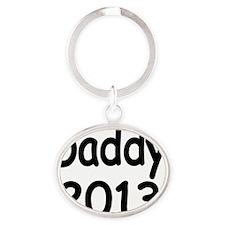 Daddy 2013 Oval Keychain