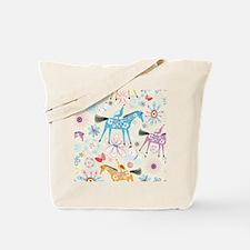 Art Horses Tote Bag