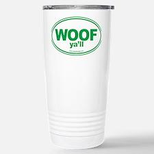 WOOF Yall Green Travel Mug