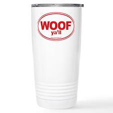 WOOF Yall Red Travel Mug