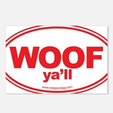 WOOF Yall Red Postcards (Package of 8)