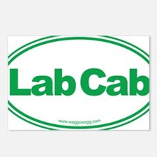 Lab Cab Green Postcards (Package of 8)