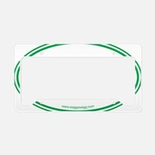 Lab Cab Green License Plate Holder