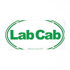 Lab Cab Green Aluminum License Plate