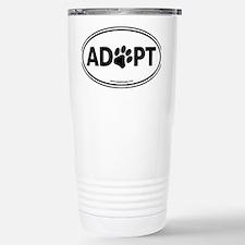 Adopt Black Stainless Steel Travel Mug