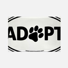 Adopt Black Rectangle Magnet