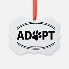 Adopt Black Ornament