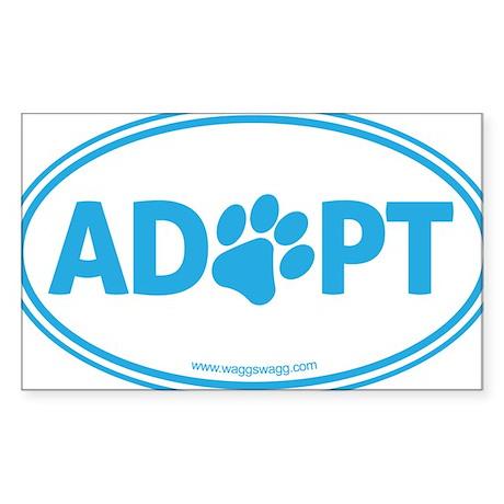 Adopt Blue Sticker (Rectangle)