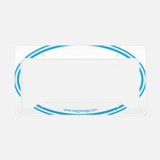 Adopt Blue License Plate Holder